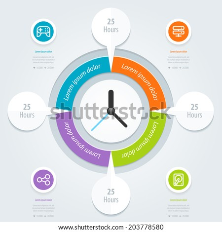 Infographic design. Can be used for workflow layout, banner, diagram, number options, step up options, web design. Vector eps 10. - stock vector