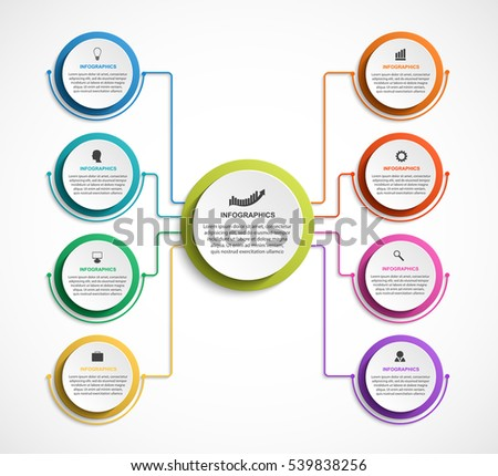 infographic design organization chart template stock vector 539838256 shutterstock. Black Bedroom Furniture Sets. Home Design Ideas
