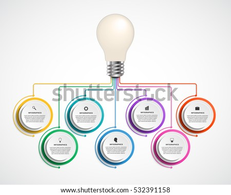 Infographic design organization chart template. Vector illustration