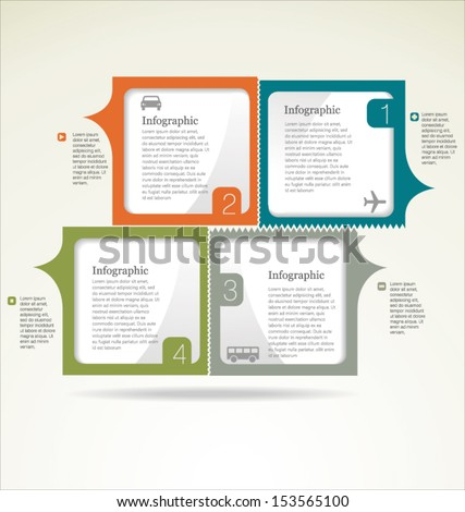 Infographic design template - stock vector
