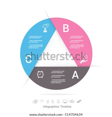 Infographic design template and marketing icons, Business concept with 3 options
