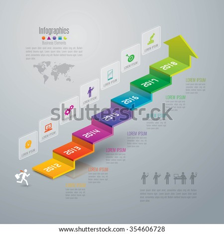 Infographic design template, business infographic and icons, vector infographic. Infographics stock can be used for workflow layout, diagram, number options, web design. Business concept 7 options. - stock vector