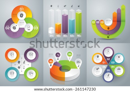 Infographic design template can be used for workflow layout, diagram, number options, web design. Infographic business concept with options, parts, steps or processes. Abstract background. - stock vector