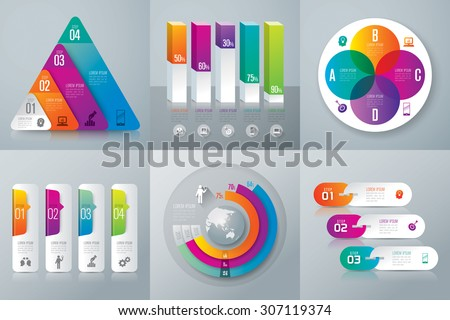 Infographic design template can be used for workflow layout, diagram, number options, web design. Business concept with 3, 4 options, parts, steps or processes. Abstract background. - stock vector