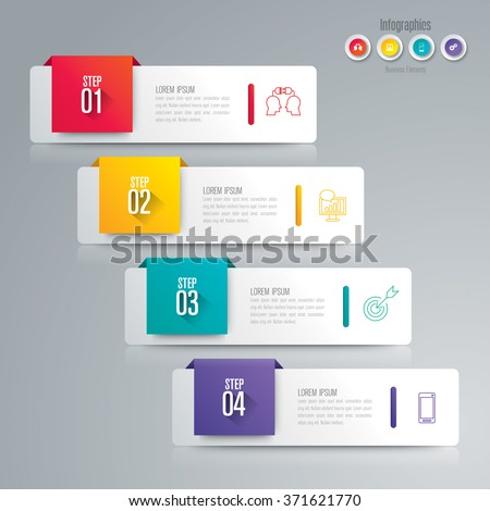Infographic design template can be used for workflow layout, diagram, number options, web design. Infographic business concept with 4 options, parts, steps or processes. Abstract background.