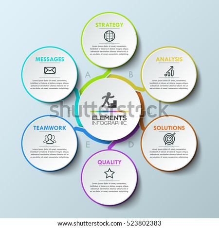 Infographic Design Template Circular Chart  Stock Photo Photo
