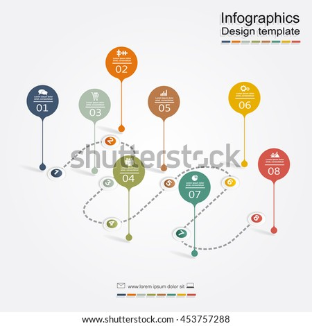 Infographic design template. Vector illustration. - stock vector