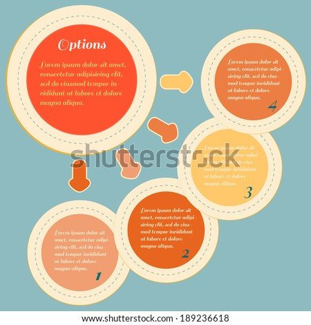 Infographic design template with circles elements for business presentation