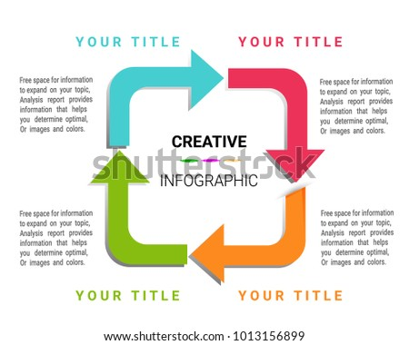 Infographic Design Template With Numbers 4 Option For Presentation  Infographic, Timeline Infographics, Steps Or  Numbers Templates Free