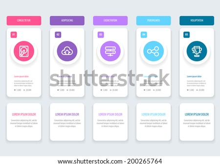 Infographic design template with place for your content. Vector eps 10 - stock vector