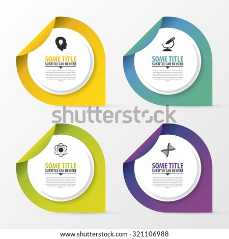Infographic design template with pointers. Business concept. Round progress or options. Vector illustration - stock vector