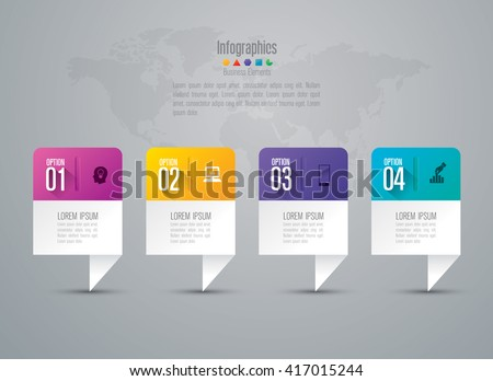 Infographic design vector and marketing icons can be used for workflow layout, diagram, annual report, web design. Business concept with 4 options, steps or processes. - stock vector