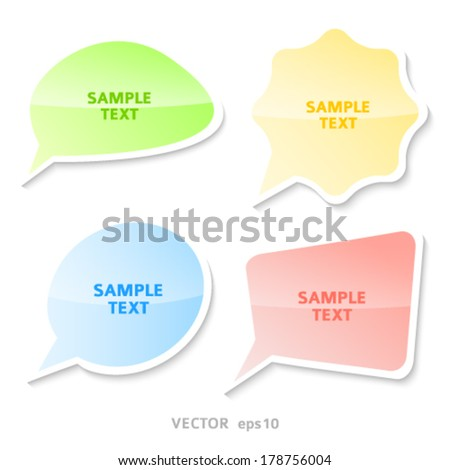 Infographic design with set spring communication bubbles isolated on the white background. Vector abstract illustration Eps 10. Theme of summer, wellness, nature, healthy living, travel, fitness