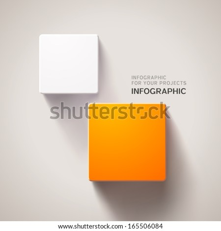 Infographic design with two square elements. Eps10 vector background - stock vector