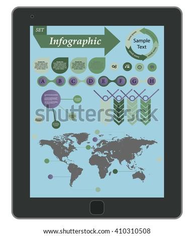 infographic element.  - stock vector