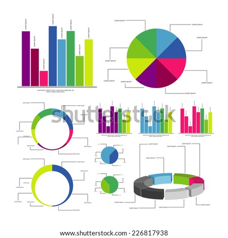 Infographic element set. vector - stock vector