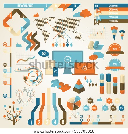 Infographic Elements and Communication Concept. Vector Design Symbol. - stock vector