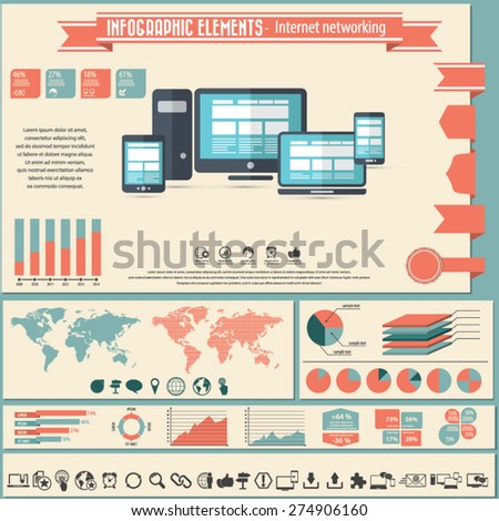 Infographic elements and icons - Internet and network