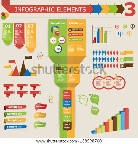Infographic elements, icon set 3 - stock vector