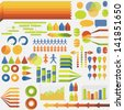 Infographic elements. Set of elements for developing creative colorfull infographics. EPS10 vector illustration, global colors, easy to modify. - stock vector