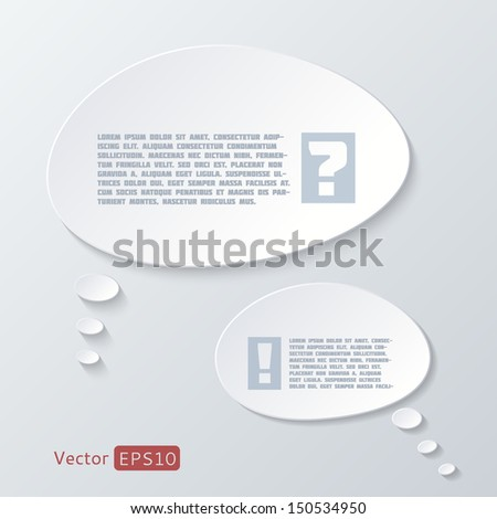 Infographic elements - speech bubbles. Eps 10 vector file. - stock vector