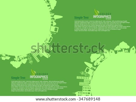 Infographic Energy saving green  concept .save world vector illustration.