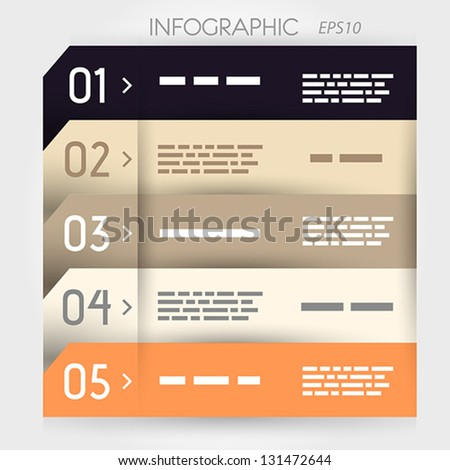 infographic five options notebbok. infographic concept.