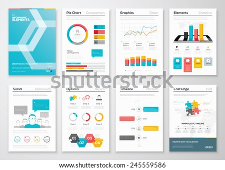 Infographic Flyer Brochure Designs Web Templates Stock Vector