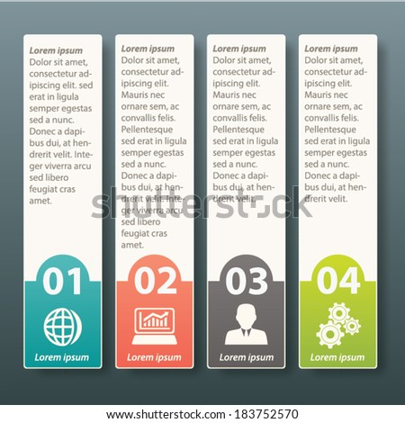 Infographic four label template design - stock vector