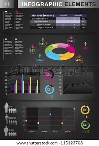 INFOGRAPHIC graph ELEMENT - stock vector