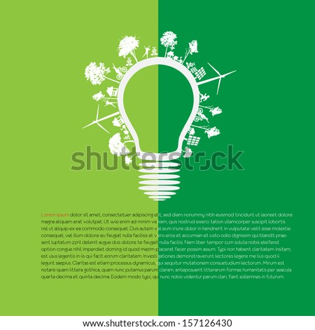 infographic green eco energy concept - stock vector