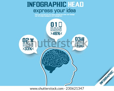 INFOGRAPHIC HEAD IDEA BLUE