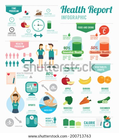 Health infographic stock images royalty free images vectors infographic health sport and wellness template design concept vector illustration pronofoot35fo Gallery