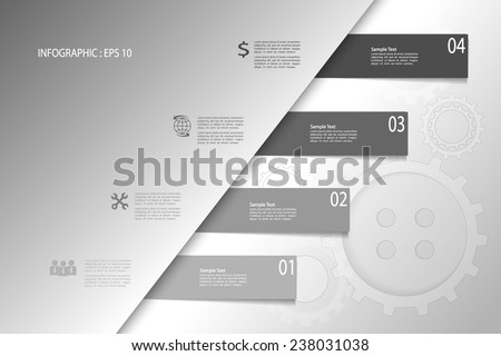 Infographic illustration EPS 10. can be used for workflow layout, diagram, number options  - stock vector