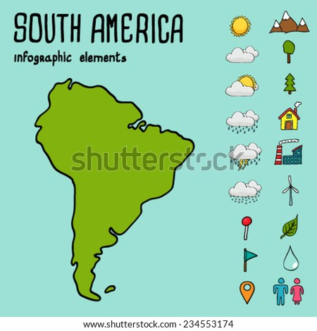 North And South America Map Stock Photos RoyaltyFree Images - Stylized us state map infographic rough
