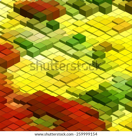 Infographic Isometric Vector Graph, Abstract 3D Chart Background - stock vector