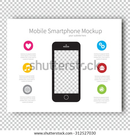 Infographic Mockup device Smartphone Presentation Template, Business Layout design , Modern Style , Vector design illustration. - stock vector