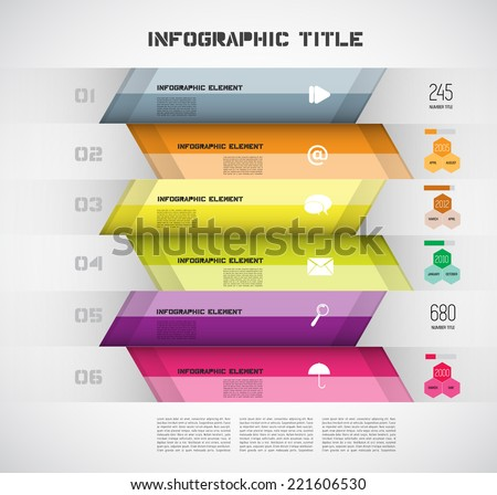 Infographic Modern Design Layout, Vector - stock vector
