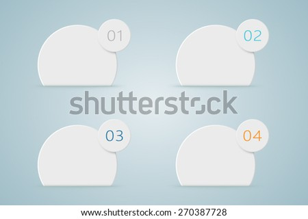 Infographic Numbered Step Bubbles 4  - stock vector