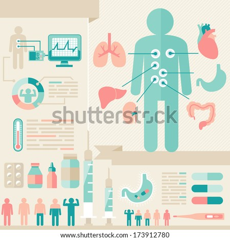 infographic of healthcare - stock vector