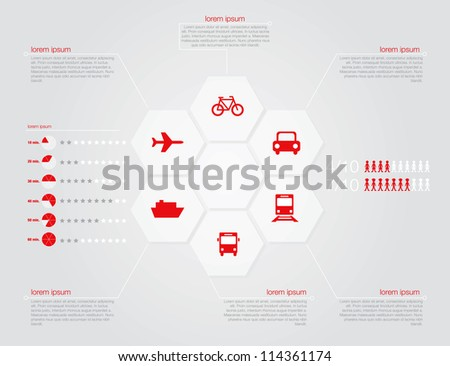 Infographic of transportation concept in editable vector format