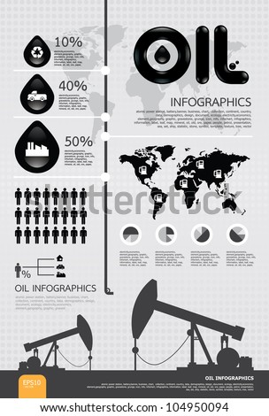 infographic oil of the world vector - stock vector