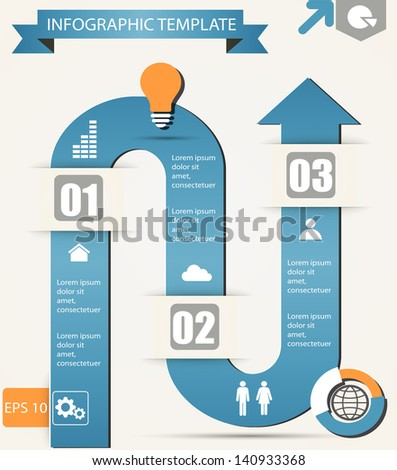 infographic options template eps10 - stock vector