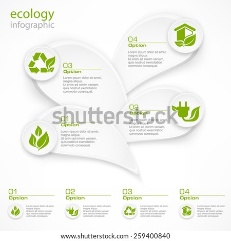 Infographic petal option choice elements and text, vector illustration - stock vector