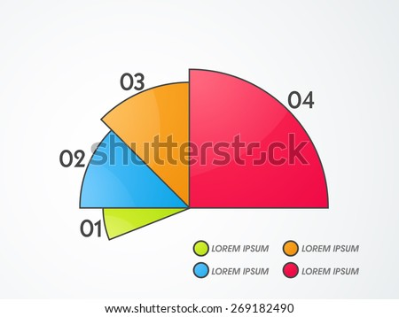 Infographic pie chart for your business. - stock vector