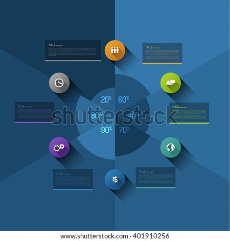 Infographic Pie Chart Template Design Element Stock Vector