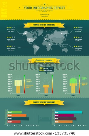 Infographic Report | Infogrpahic elements Editable EPS. 10 vector graphic - stock vector