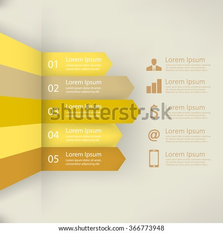 Infographic report template, vector illustration - stock vector