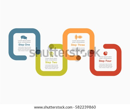 Infographic Report Template Lines Icons Vector Stock Vector ...