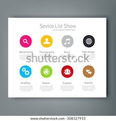 service list template
